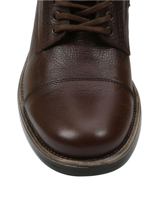 gbx tosh tumbled leather boots in brown for lyst