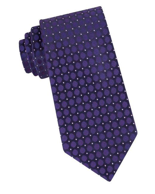 Calvin Klein | Purple Dotted Silk Tie for Men | Lyst