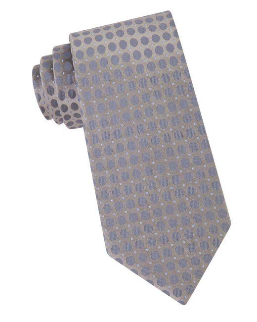 Calvin Klein | Gray Dotted Silk Tie for Men | Lyst