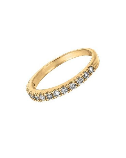 Morris & David | Metallic Diamond Ring In 14 Kt. Yellow Gold | Lyst