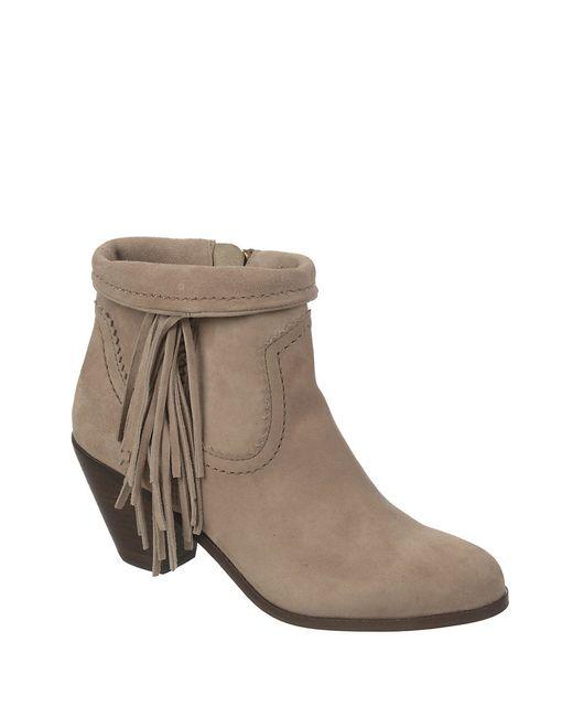 Sam Edelman | Black Louie Fringe Ankle Boots | Lyst