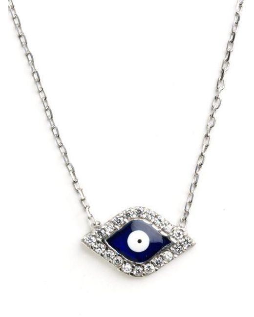 Lord & Taylor | Metallic Sterling Silver Evil Eye Pendant Necklace | Lyst