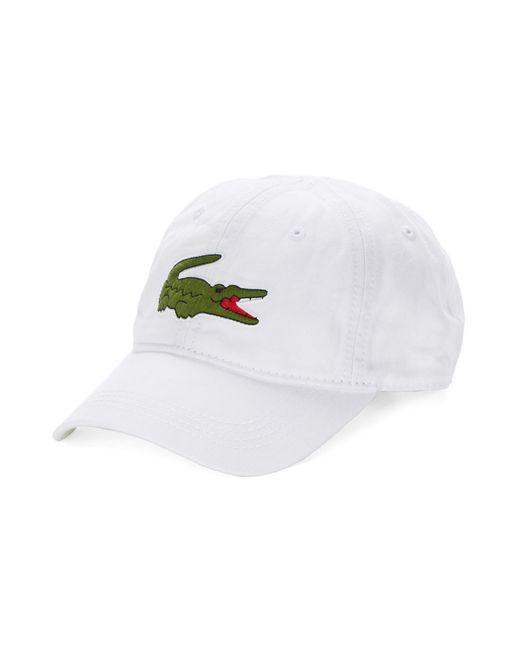 Lacoste | White Big Croc Gabardine Cap for Men | Lyst