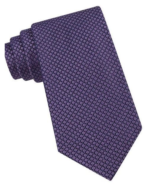 Calvin Klein | Purple Classic Fit Micro Dot Textured Silk Tie for Men | Lyst