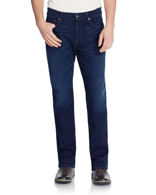 7 For All Mankind | Blue Carsen Relaxed Straight Leg Jeans for Men | Lyst