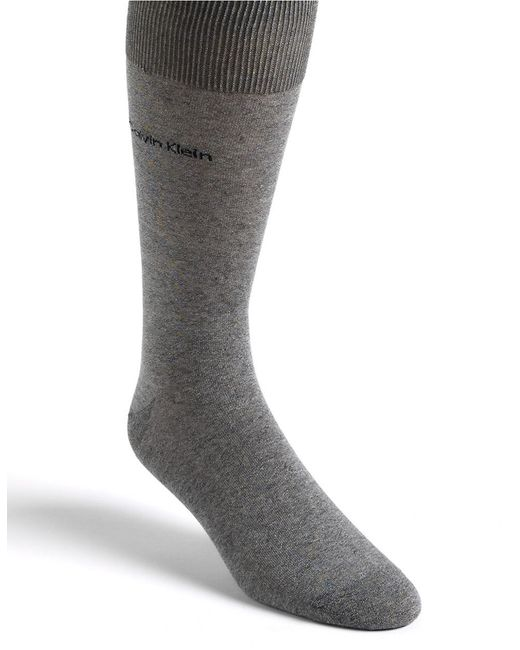 Calvin Klein | Gray Egyptian Cotton Knit Socks for Men | Lyst