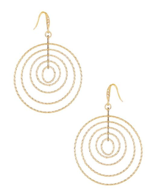 ABS By Allen Schwartz | Metallic Multi Wire Circle Earrings | Lyst