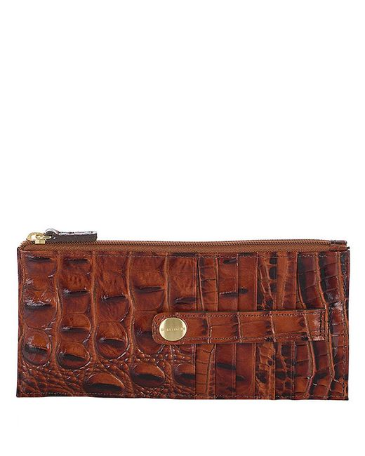 Brahmin | Brown Melbourne Leather Credit Card Wallet | Lyst