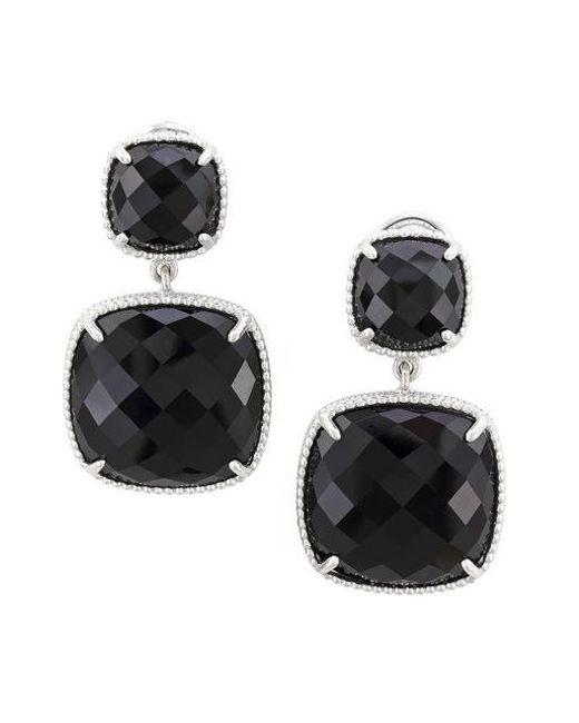 Effy | Black Onyx And Sterling Silver Drop Earrings | Lyst