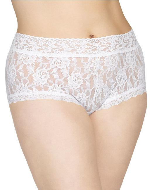 Hanky Panky | White Plus Size Wide-band Signature Lace Boyshorts | Lyst