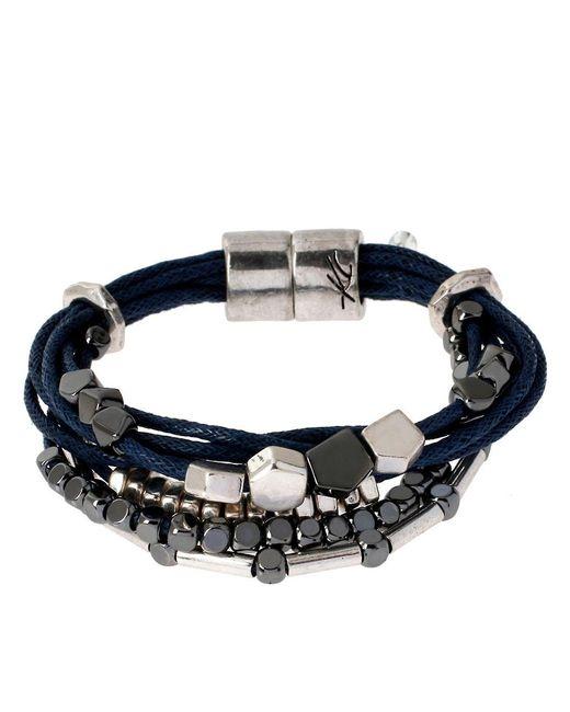 Kenneth Cole   Black Multi-strand Beaded Bracelet   Lyst