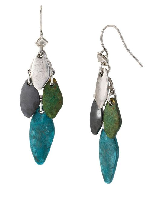 Robert Lee Morris   Blue Patina Mixed Bead Chandelier Earrings   Lyst