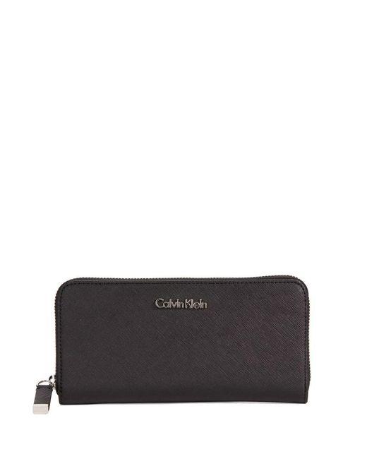Calvin Klein | Black Saffiano Leather Wallet | Lyst