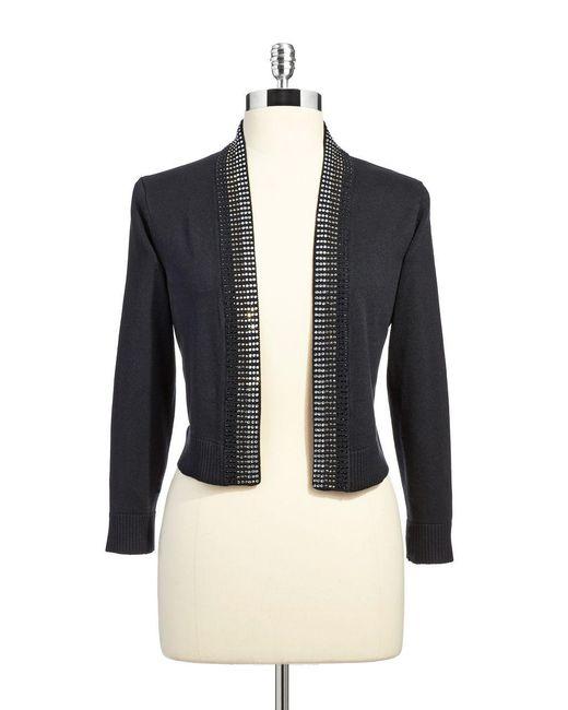Calvin Klein | Black Embellished Bolero Cardigan | Lyst
