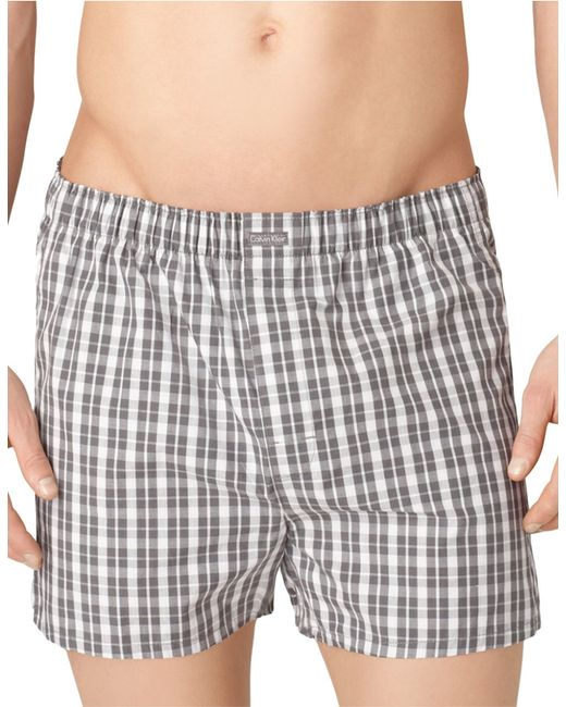 Calvin Klein | Gray Three-pack Woven Boxer Shorts Set for Men | Lyst