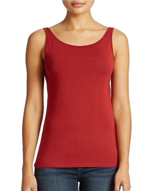 Lord & Taylor   Red Iconic Fit Slimming Tank Top   Lyst