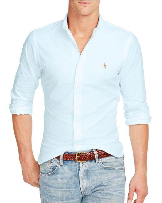Polo Ralph Lauren | Blue Slim-fit Sportshirt for Men | Lyst