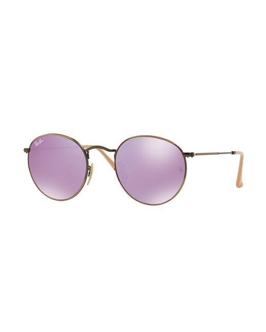Ray-Ban | Metallic Round Mirrored Sunglasses | Lyst