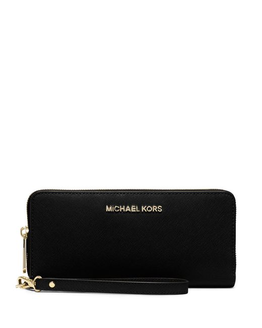 MICHAEL Michael Kors | Black Jet Set Continental Multifunction Phone Wallet | Lyst