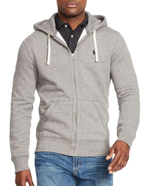 Polo Ralph Lauren | Gray Full-zip Fleece Hoodie for Men | Lyst