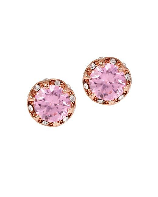 Betsey Johnson | Metallic All That Glitters Ruffled Cubic Zirconia Stud Earrings | Lyst