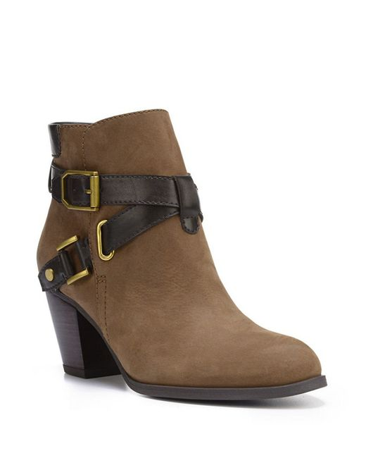 Franco Sarto | Brown Delight Leather Boots | Lyst