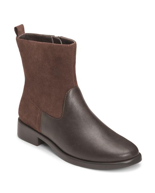 Aerosoles | Brown Make A Wish Faux Leather Booties | Lyst