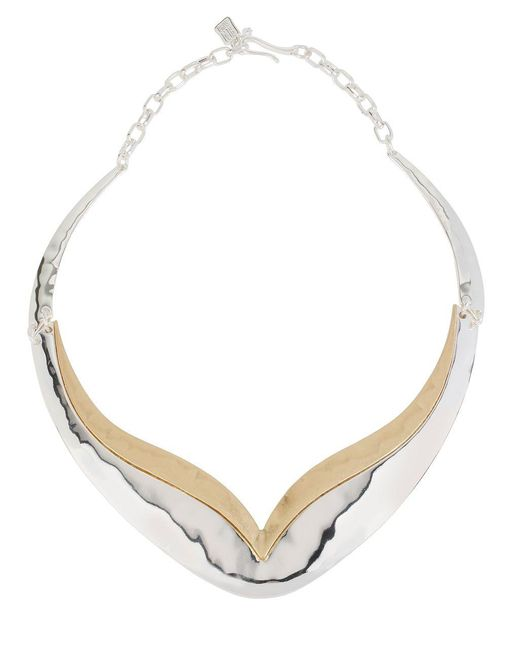 Robert Lee Morris | Multicolor Two-tone Sculptured Necklace | Lyst