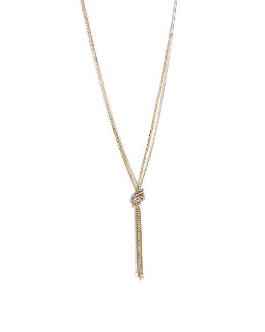 Kenneth Cole | Metallic Mixed Metal Knotted Chain Necklace | Lyst