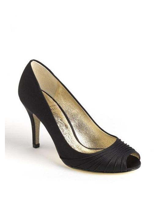 Adrianna Papell | Black Farrel Peep Toe Pumps | Lyst