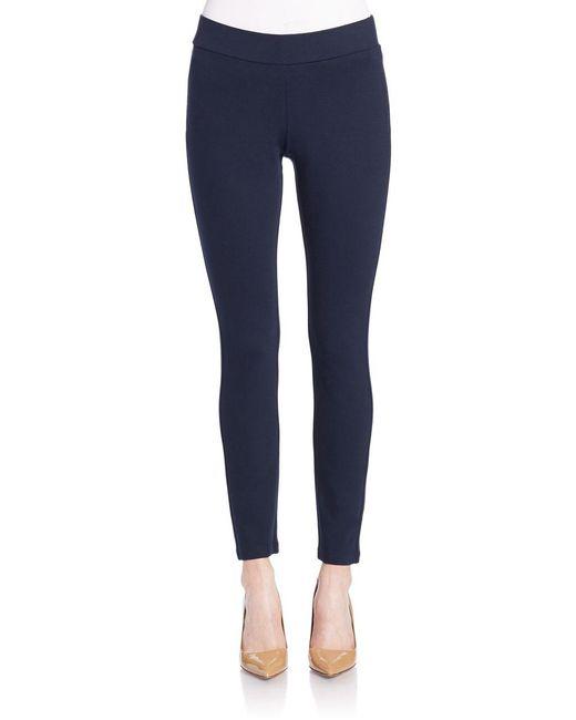 NYDJ | Blue Petite Knit Ponte Pants | Lyst