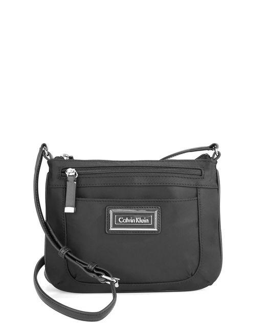 Calvin Klein | Black Nylon Crossbody Bag | Lyst