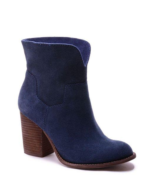 Splendid | Blue Addie Suede Ankle Boots | Lyst