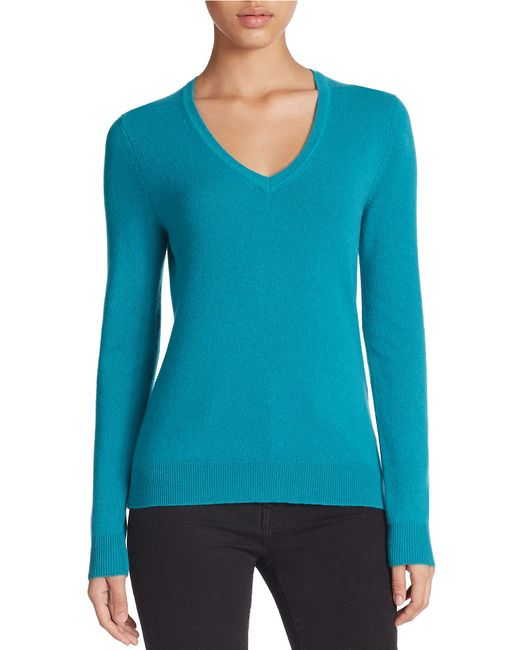Lord & Taylor | Blue Plus Basic V-neck Cashmere Sweater | Lyst