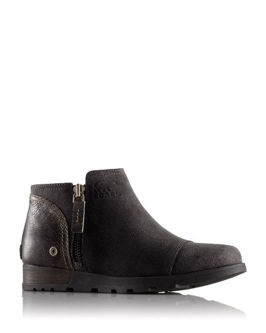 Sorel | Black Leather Ankle Boots | Lyst