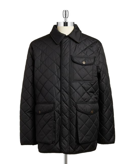 Hart Schaffner Marx | Black Quilted Jacket for Men | Lyst