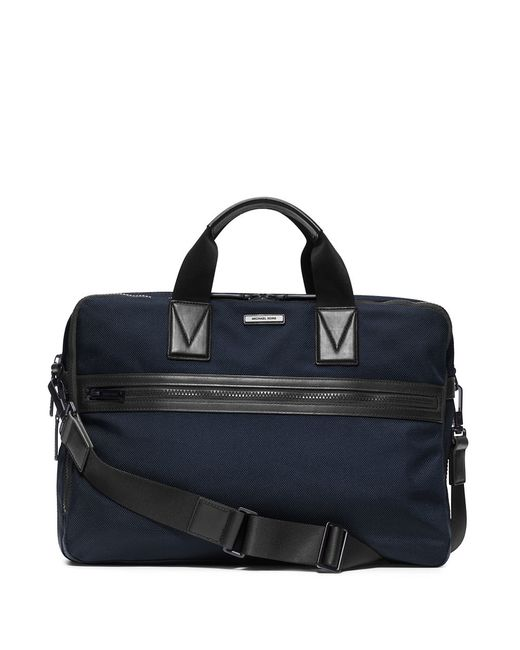 Michael Kors | Blue Large Leather-trim Nylon Briefcase for Men | Lyst