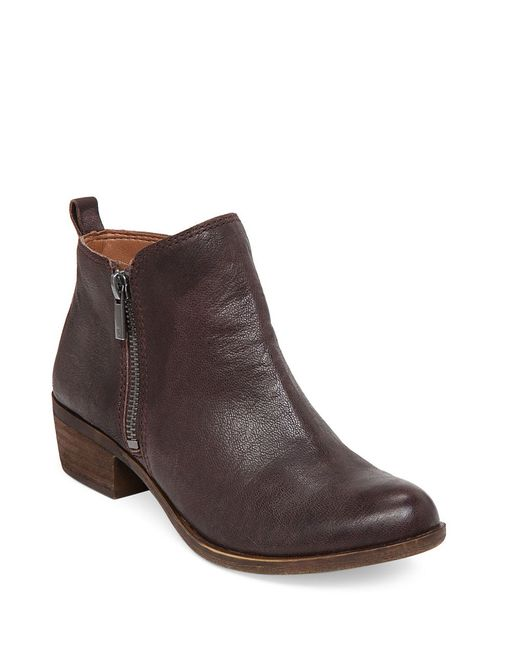 Lucky Brand | Brown Basel Zip Up Booties | Lyst