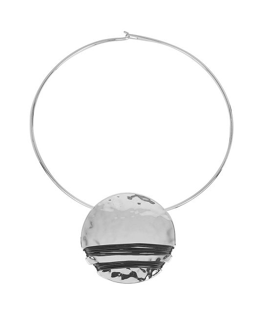 Robert Lee Morris | Metallic Hammered Wrap Pendant Necklace | Lyst