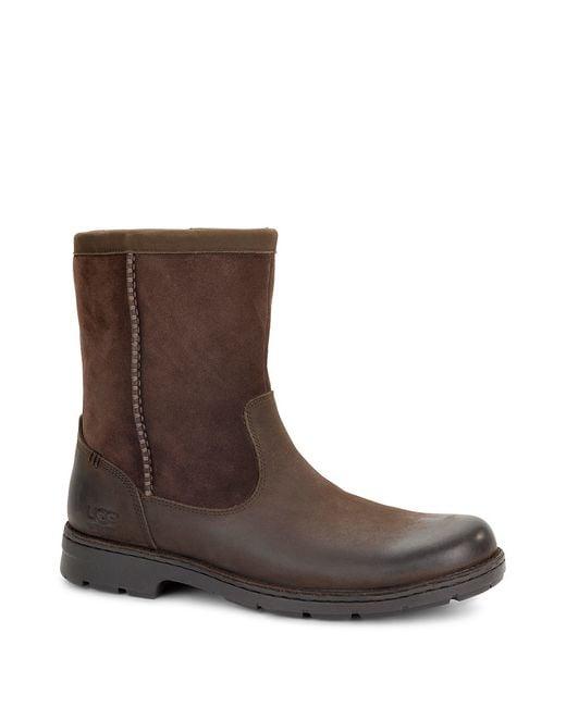 UGG | Brown Forester Slip-on Boots for Men | Lyst