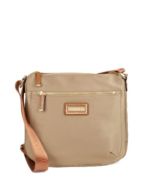 Calvin Klein | Natural Nylon Crossbody Bag | Lyst