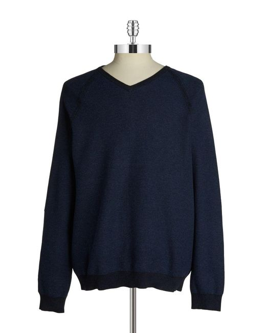 Tommy Bahama | Blue Make Mine A Double Reversible V-neck Sweater for Men | Lyst