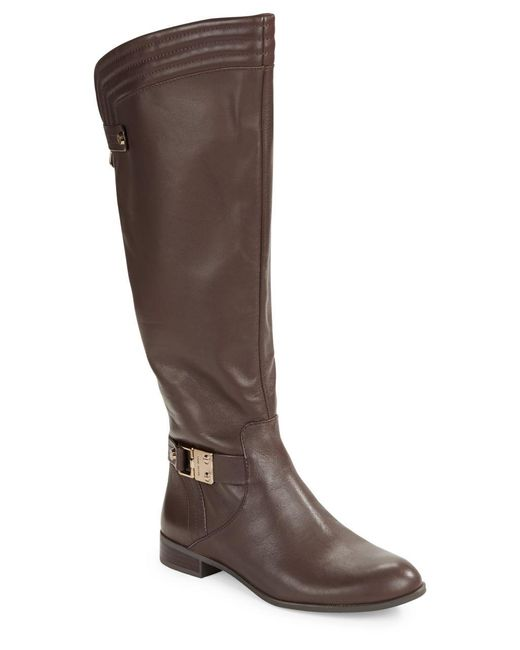 Anne Klein | Brown Kaydon Leather Boots | Lyst