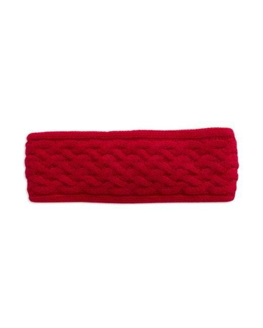Lord & Taylor | Red Braided Cashmere Headband | Lyst