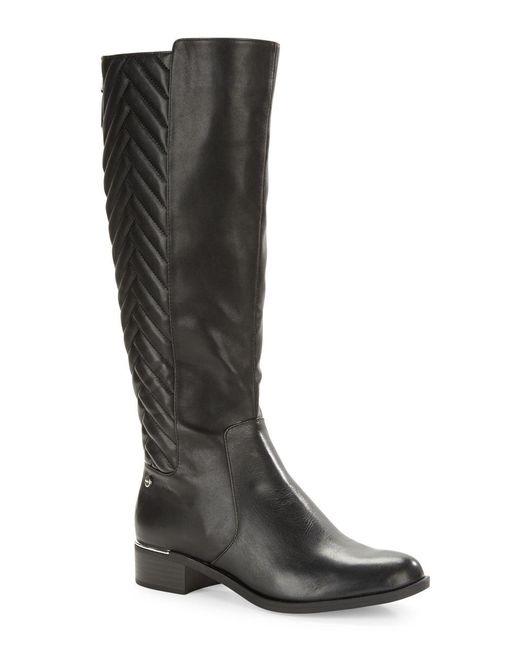 Calvin Klein | Black Giada Leather Mid-calf Boots | Lyst