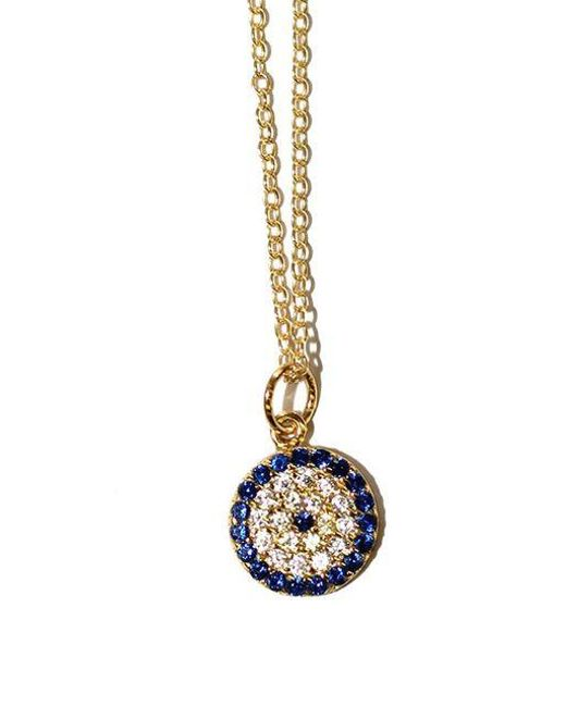 Lord & Taylor | Blue Sterling Silver Evil Eye Pendant Necklace | Lyst