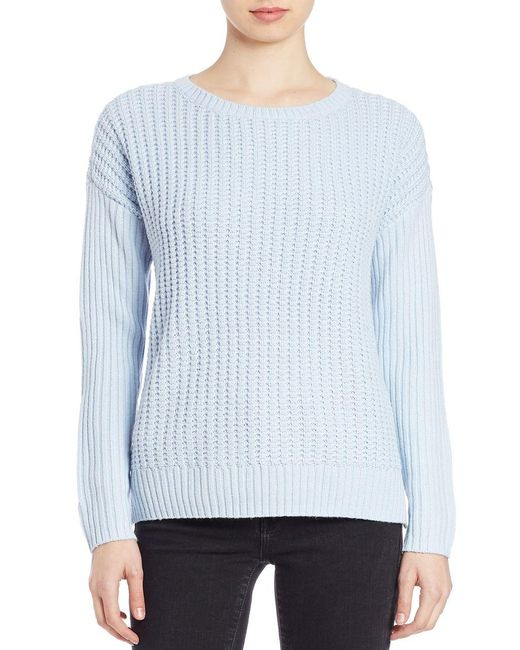 Lord & Taylor | Blue Plus Knit Crewneck Sweater | Lyst
