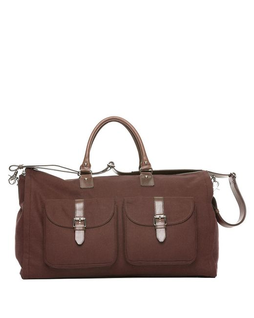 Hook + Albert | Brown Canvas Weekender for Men | Lyst