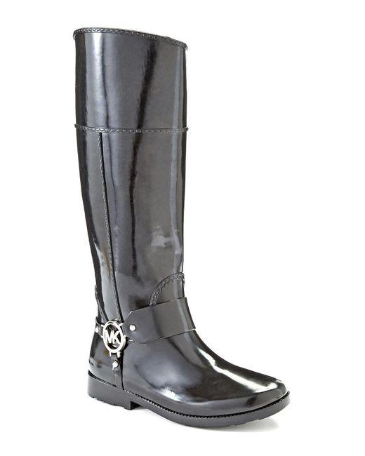 MICHAEL Michael Kors   Black Fulton Harness Rain Boots   Lyst