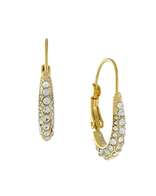 Cole Haan | Metallic Oval Hoop Glitz Earrings | Lyst